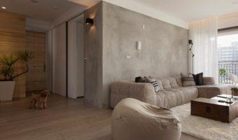 Duvarda beton görünümü