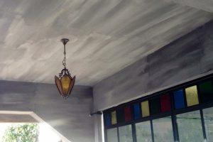 Brüt beton tavan dekorasyonu
