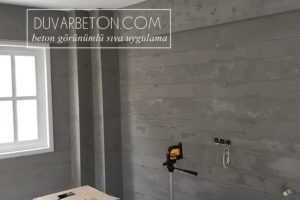 Dekoratif sıva ile beton görünümlü duvar