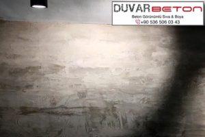 Brüt beton sıva uygulaması