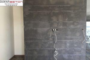 Derzli brüt beton duvar sıva