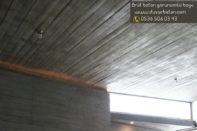 Duvarlarda brüt beton sıva kullanımı
