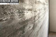 İç cephe beton görünümlü duvar