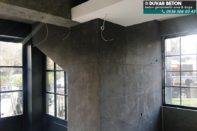 Beton görünümlü duvar modası